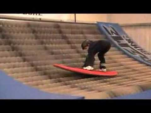 8 year old Lawrence tries Brush Boarding