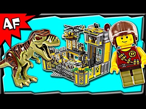 Lego DINO DEFENSE HQ 5887 Stop Motion Build Review