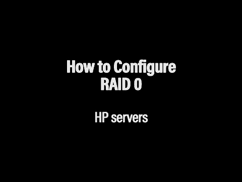 How to Configure RAID 0 on Your HP Server