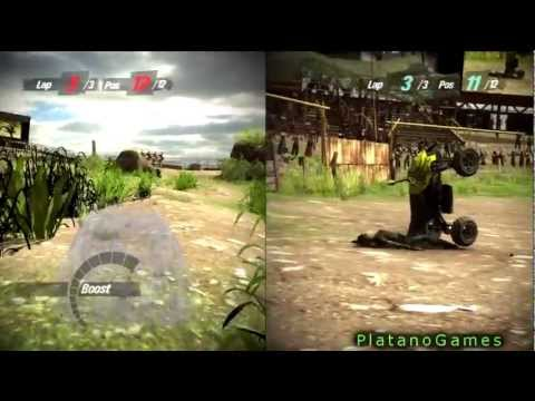 0 Motorstorm Pacific Rift   Splitscreen DUIs Part 2 LOL   Full Race + Free Run At End   HD