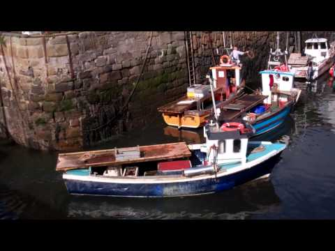 Crab Boats Returning To Harbour Crail East Neuk Of Fife Scotland