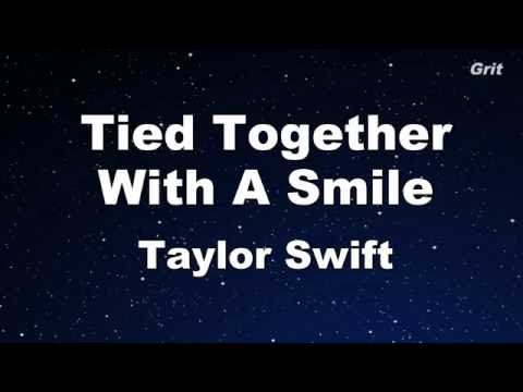 Tied Together With a Smile - Taylor Swift Karaoke【No Guide Melody】