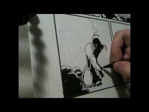 Cameron Stewart Inking Batman & Robin 2 Video