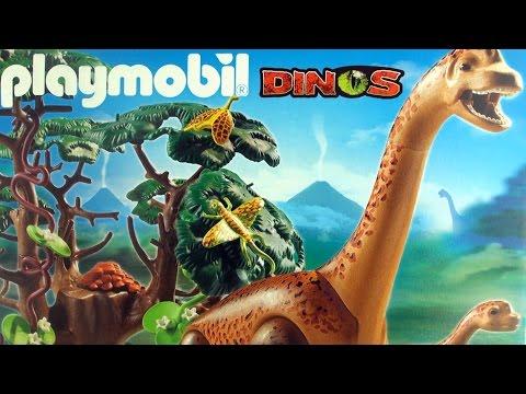Playmobil Dinos Brachiosaurus 5231 - Dinosaur toys Brachiosaurus with baby and tree