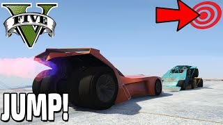 MEGA JUMP MIT BATMAN AUTO 😱❄ GTA 5 WINTER PARCOUR