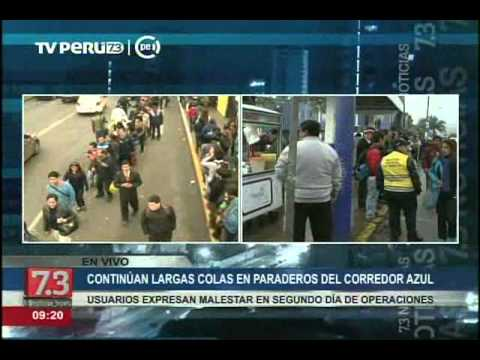 Usuarios del Corredor Azul forman largas colas en el tramo Arequipa – Tacna. (Video: YouTube TV Perú)