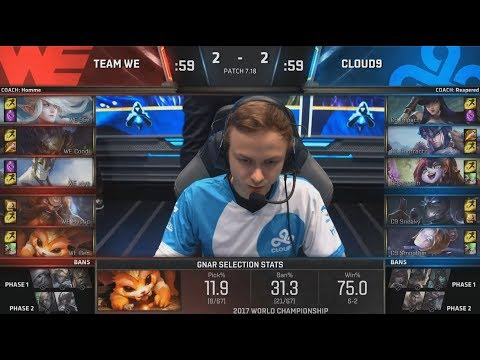 WE (Xiye Galio) VS C9 (Jensen Orianna) Game 5 Highlights - 2017 World Championship Quarterfinals