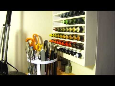 How to make a vallejo / reaper paint rack