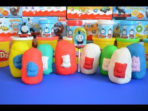 Play-Doh Surprise Eggs Thomas And Friends James Percy Thomas Play-Doh creations  托马斯&朋友