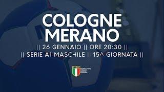 Serie A1M [15^]: Cologne - Merano 22-19
