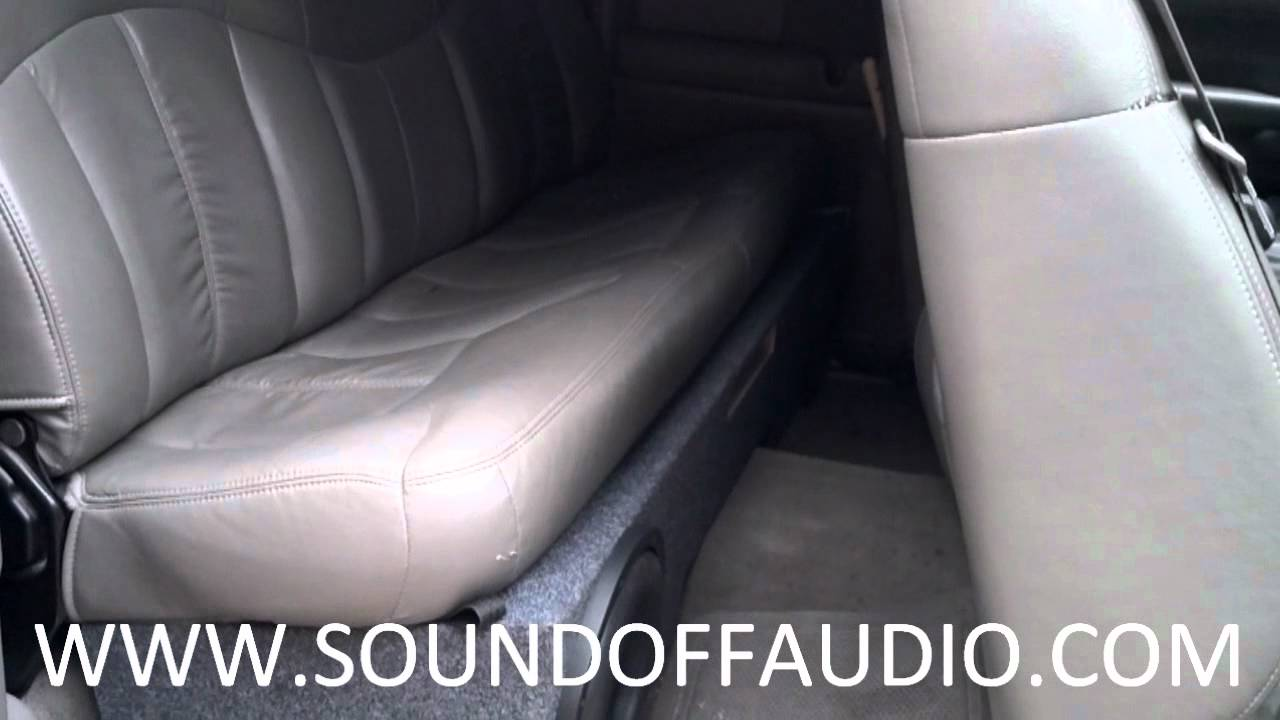 Chevrolet Extended Cab Vented Subwoofer Box 1999 2006