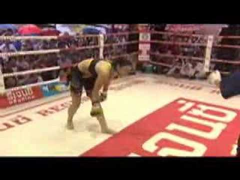 Thai Boxer Hottie Gina Carano Fighting in Thailand