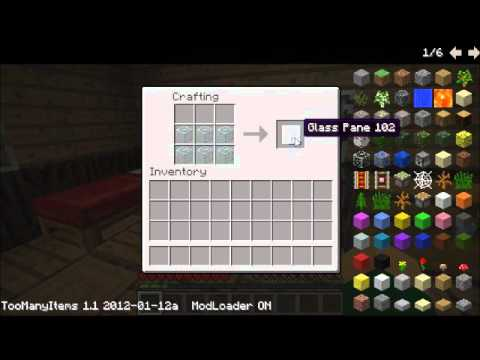 Minecraft how to make crafting table glass pane and for How to make a glass table