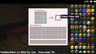 how to make black stained glass pane in minecraft
