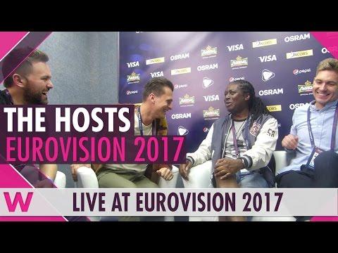 Oleksandr Skichko, Volodymyr Ostapchuk & Timur Miroshnychenko (Eurovision 2017 Hosts) Interview