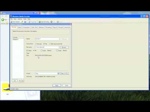 Windows Media Encoder Tutorial - How to encode a video file into a WMV file using Custom Sessions