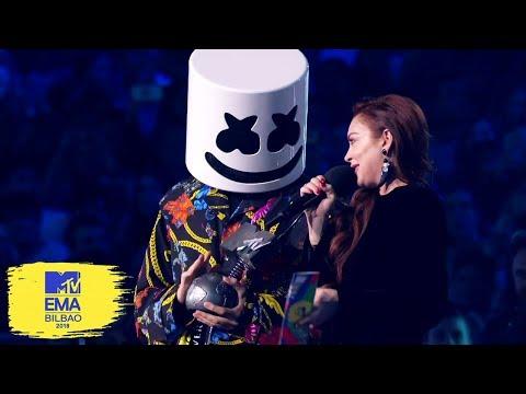 Marshmello Accepts Best Electronic Award | MTV EMAs 2018