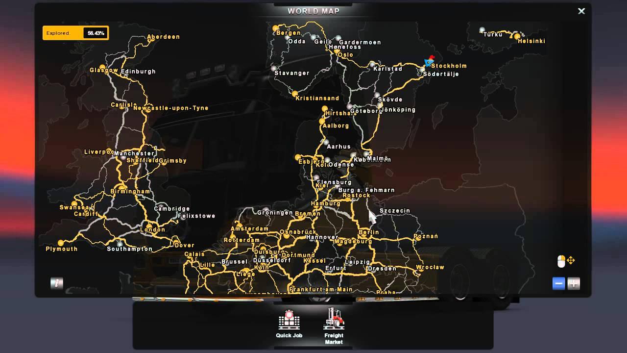 euro truck simulator 2   pro mod v1 01 review   youtube