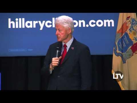 Bill Clinton TCNJ Campaign Visit