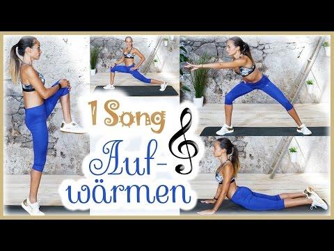 Aufwärmübungen - Richtig Aufwärmen mit nur einem Song - Körper Dehnen - Warm Up vor dem Sport