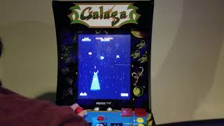 Arcade 1up Galaga and Galaxian gameplay!
