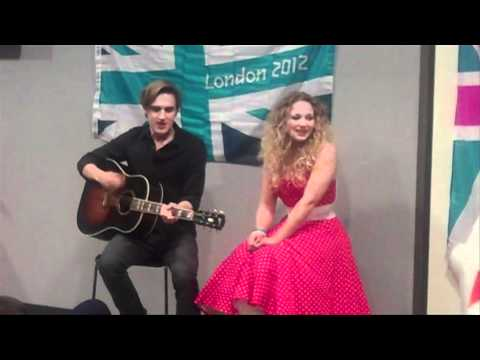 McFly's Tom Fletcher and sister Carrie perform the official olympic mascot song On A Rainbow! Music Videos