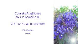 Conseils Angéliques pour la semaine du 25/02/2019 au 03/03/2019  ******