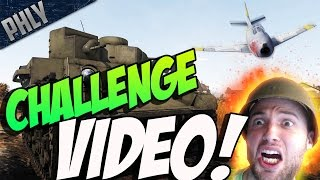 BABY & THE JET - CHALLENGE VIDEO - (War Thunder Tank Gameplay)