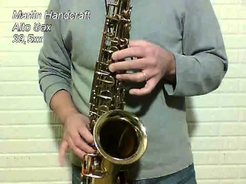 Martin Handcraft Alto Sax 395xx