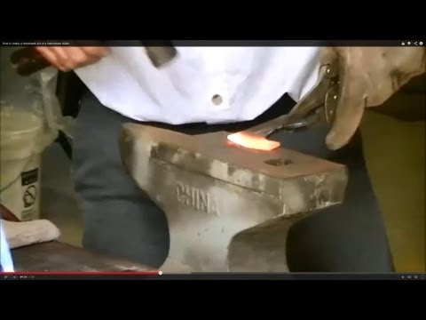 Making a tomahawk out of a lawnmower blade? forging tools out of scrap.