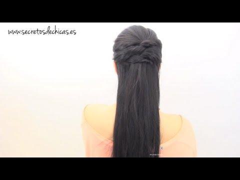 Peinado fácil con cruzados