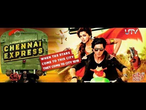 Chennai Express - SRK & Deepika with the Press & Studio Visit - Link 1