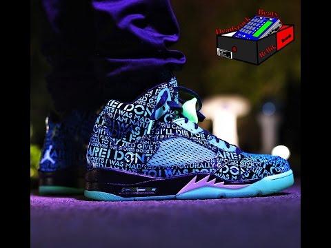 Doernbecher 5 Glow In The Dark On Feet Nike Jordan 5 doernbecher  DB
