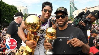 Kawhi gets the last laugh, Drake chugs & the crowd chants 'Spicy P' at Raptors' championship parade