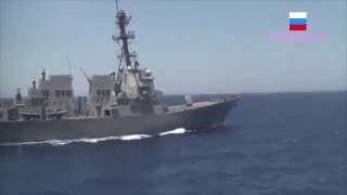 Russian Frigate Yaroslav Mudry & US Destroyer Gravely - Close Encounter