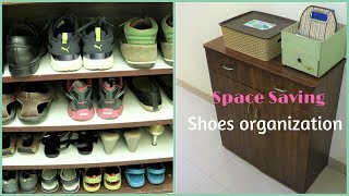 Space Saving Shoes Organization | Shoe Rack Organizer