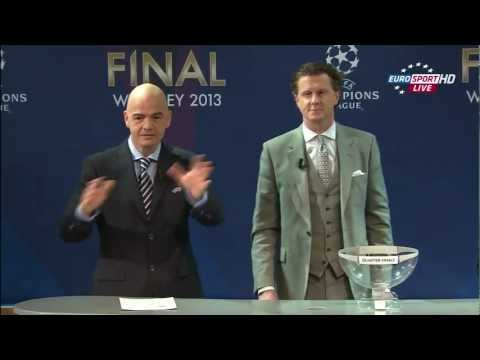 UEFA Champions League 2012-13 Season Quarter-final & Semi-Final draws  in Full HD (15.03.2013)