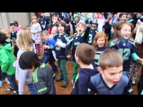Seahawks Spirit Day at The Bear Creek School - Super Bowl - 01/22/2014