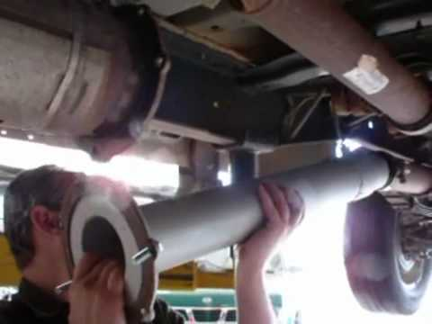 Ford 6.4L DPF Maintenance Mode pipe install.