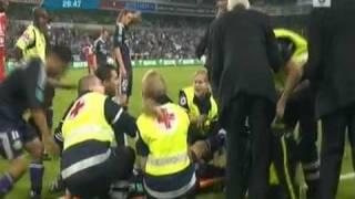 Marcin Wasilewski INJURED Anderlecht - Standard 30-08-09