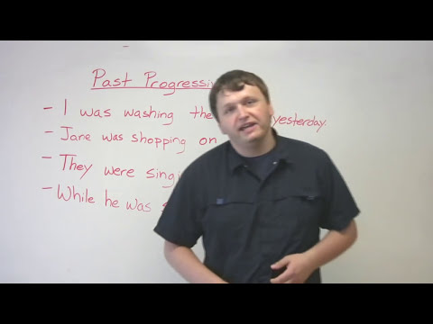 English Grammar – Past Progressive