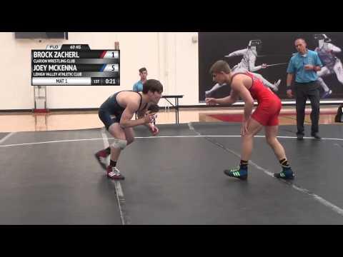 FS 60 KG - Final Trials Match #2 - Brock Zacherl (Clarion WC) vs. Joey McKenna (LVAC)