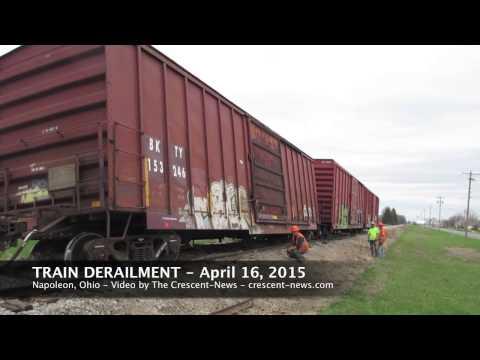 Train derailment in Napoleon, Ohio