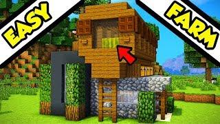 Minecraft Farm Top Modern House Tutorial (How to Build)