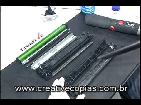 A Melhor Video Aula de Recarga Toner HP CB435A ou 35A. P1005. P1006
