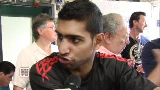 Amir Khan Talks About Fight with Danny Garcia - Interview at Wildcard Gym by Pete Allman