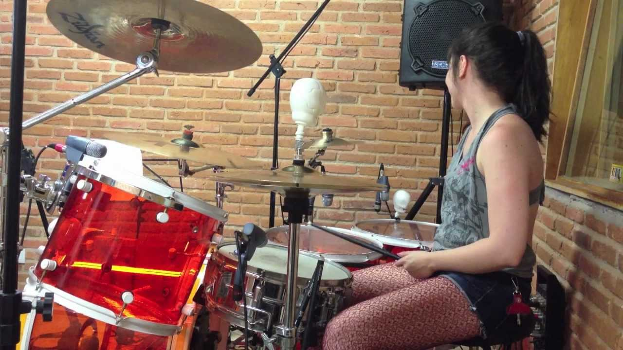 Enter Sandman by Lucy Fields (drum cover Metallica) - YouTube