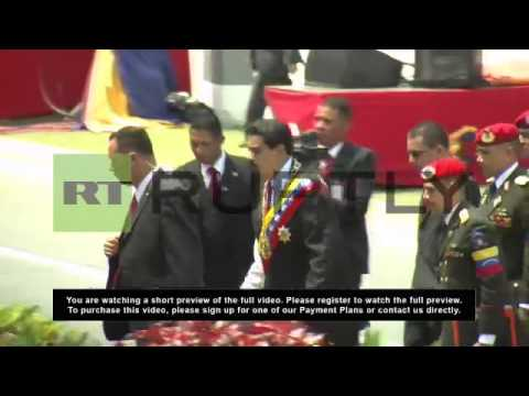Venezuela: Military parade celebrates first anniversary of Chavez's death