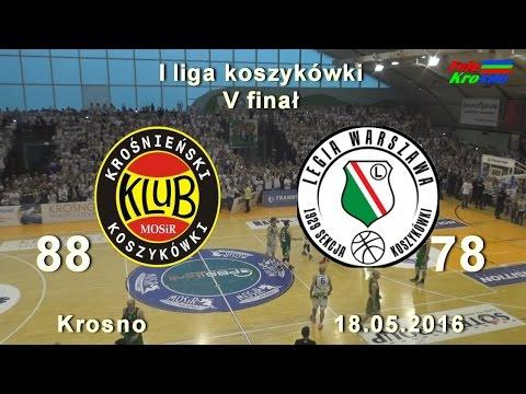 Koszykówka: Wielki Finał:  Miasto Szkła Krosno - Legia Warszawa (cały Mecz) Cały