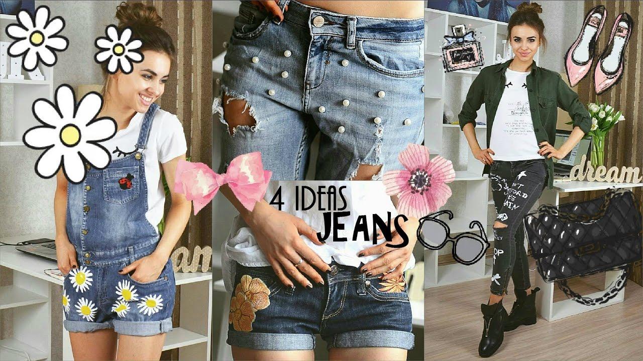 Как можно украсить джинсы своими руками фото женские поэтапно 61